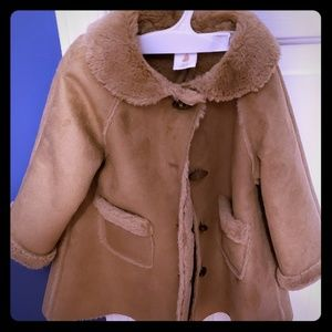 Starting Out faux suede and fur jacket size 24 mos